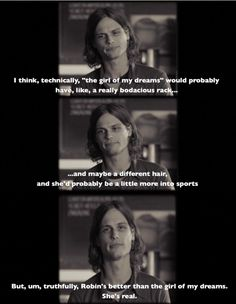 I <3 Matthew Gray Gubler, and this is perhaps wiser than anything he ever says as Dr. Reed.