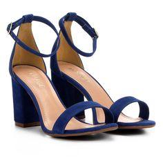 66d1c9b154 Compre Sandália em Suede Mixage Salto Grosso Feminina e muito mais em  roupas