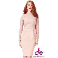 Alba Midi ροζ πούδρας δαντελένιο φόρεμα Lace Dresses, Dresses For Work, Pink, Fashion, Moda, Lacy Dresses, Fashion Styles, Lace Dress, Tutu Dresses