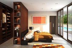 Headboard closet -- Houseplans.com Modern Plan #491-5