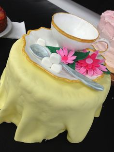 Tea party cake-70th birthday | Courtney's Confections |