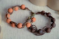 Ceramic Bracelet Handmade Clay Jewelry Eco Friendly Accessories For Women