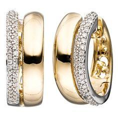 Damen-Ohrschmuck Creole 86 Diamant-Brillanten 14 Karat (585) Gelbgold 0.30 ct. Dreambase http://www.amazon.de/dp/B0147RN2ZQ/?m=A37R2BYHN7XPNV