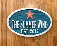 Personalized House Signs for your Beach House, Lake House, Camper or Business. Weather resistance and fade resistance signs made out of High Density Urthane (HDU).