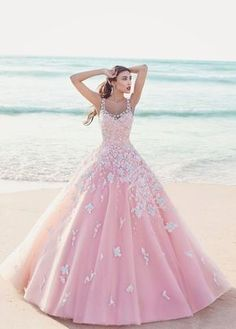 Cheap Blush Pink Wedding Dresses,Quinceanera Dresses,Hot Vestido De 15 Pink Wedding Dress,Quincenera Gowns, With Appliques Sweet Sixteen Wedding Dresses Robes Quinceanera, Pretty Quinceanera Dresses, Pink Prom Dresses, Sweet 16 Dresses, Tulle Prom Dress, Bridal Dresses, Formal Dresses, Pastel Prom Dress, Pink Skirts