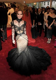"Christina Ricci at the ""Alexander McQueen 'Savage Beauty' Costume Institute MET Gala May 2 2011"