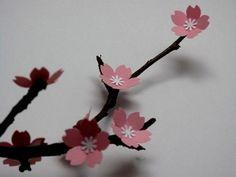 Delicadas flores de papel