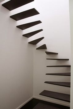 WABI SABI Scandinavia - Design, Art and DIY. -- NOT as stairs but perhaps as shelving in a small nook or closet would be interesting Interior Stairs, Interior Architecture, Interior And Exterior, Interior Design, Loft Stairs, House Stairs, Basement Stairs, Basement Ideas, Scandinavia Design