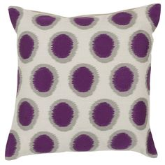 Tory Pretty Polka Dot Linen Throw Pillow