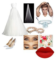"""""""My wedding"""" by annaglew on Polyvore featuring Christian Louboutin, Justin Bieber and Tiffany & Co."""