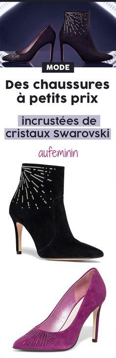 Ces superbes chaussures sont incrustées de cristaux Swarovski ! #chaussures #escarpins #talons #swarovski #mode #tendance #aufeminin