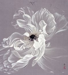 Hiromi Miura - Gossamer Tangle (Color and gold on silk, 43 x 38 cm)