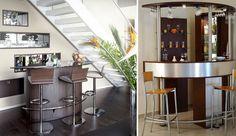 Una mesa de bar con dos o tres sillas altas hará de tu salón un lugar muy especial. Dependiendo de la estructura de tu salón, podrás colocarla en un lugar u otro.  Leer más: http://interiorismos.com/barra-de-bar-en-el-salon/#ixzz3FQ8fIVjl