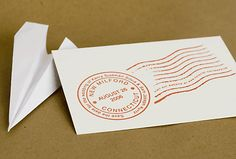 You can get a save the date stamp like this for £7.50 from stamping all day. Cute with postcards?