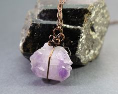 This is a simple #amethyst #elestial #crystal #pendant from my shop. The chain and clasp is #nickelfree and #hypoallergenic, great for those with #metalallergies - Amethyst is the #birthstone for #february. . . . . #amethyststone #rawamethyst #amethystpendant #amethystjewelry #boho #reiki #rustic #earthy #hypoallergenicjewelry #healingpendant #healingcrystals #gemstonejewelry #amulet #witchy