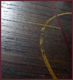 Love the old gym floor.