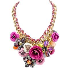 The ultimate in flower power accessories. This statement floral necklace will leave onlookers green with envy as it is such a beautiful costume piece. We want …