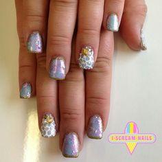Pearly mermaid nails Nautical Nail Art, Mermaid Nails