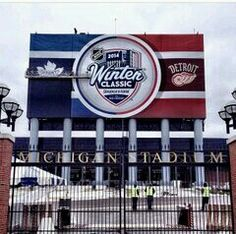 Michigan Stadium getting ready for Detroit Red Wings vs. Toronto Maple Leafs (NHL), January 1, 2014.