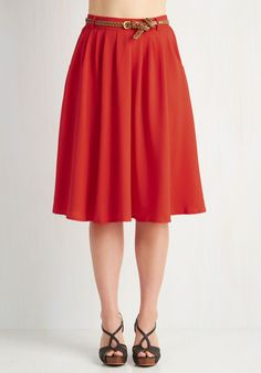 Breathtaking Tiger Lilies Skirt in Scarlet. This morning, a bundle of bright flowers was waiting at your door. #red #modcloth