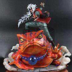 Naruto Statue Jiraiya Bust Big Toad Fairy Full-Length Portrait Gama Sennin Art Craft GK Action F Naruto Uzumaki, Sasunaru, Itachi, Action Figure Naruto, Comic Room, Geeks, Anime Figurines, Anime Toys, Anime Merchandise