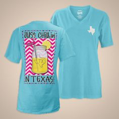 Royce Brand USA - Women's T-shirt Chillin' Texas- Lemon #lemonade
