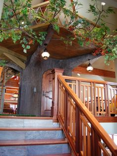 Tree House Play House with beautiful complementary railings