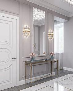 Decor Home Living Room, Living Room Designs, Home Room Design, Home Interior Design, Design Your Dream House, House Design, Home Entrance Decor, Hallway Designs, Classic Living Room