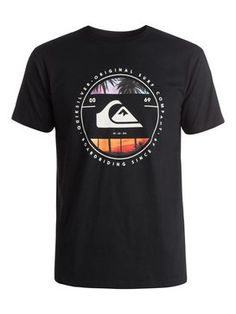 quiksilver, Classic Between The Lines - T-Shirt, BLACK (kvj0)