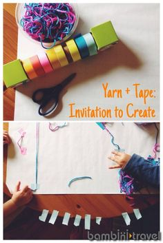 tape, toddler activities