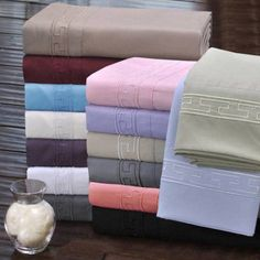 Superior Light Weight and Super Soft Brushed Microfiber, Wrinkle Resistant Sheet Set with Regal Embroidery, Beige
