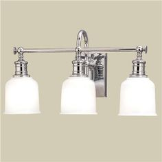 Well Appointed Bath Light - 3 Lt. (4 finishes!) For my powder room?