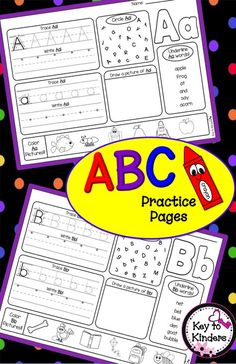 Great for Back to School Assessments! These alphabet printables are perfect to reinforce your students' letter recognition, phonics, and handwriting.