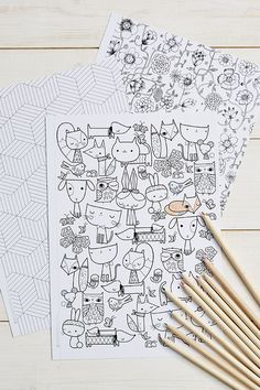 Mollie Makes Colouring Free coloring sheets is part of Free printable coloring sheets - Free Printable Coloring Sheets, Free Coloring Pages, Colouring Sheets, Coloring Books, Mollie Makes, Art Plastique, Zentangle, Painting & Drawing, Free Printables