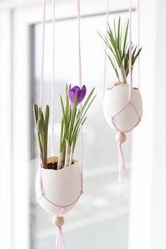 Fenster Deko für Ostern – Makramee Ostereier Making the Easter decoration yourself: Making macrame Easter eggs for the window Home Beach, Diy Para A Casa, Dollar Tree Gifts, Farmhouse Style Decorating, Easter Baskets, Happy Easter, Plant Hanger, Diy For Kids, Easter Eggs
