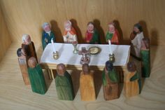 The Last Supper Wood Figures. $230.00, via Etsy.