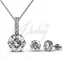 dd942b1ed Swarovski Sweetheart earring and pendant set at Destiny Jewellery On sale  50% Off Swarovski crystal
