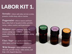 Essential oils labor kit #1