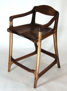 Contemporary bar stool by Paul Lemiski & Joel Savard of Canadian Woodworks #OOAKS11