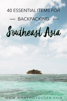 40 Essential Items For Backpacking Southeast Asia Backpacking Southeast Asia? In need of the top gear recommendations for smooth travel throughout your trip? Camping Survival, Travel Advice, Travel Tips, Travel Hacks, Travel Ideas, Travel Destinations, Bangkok, Vietnam, Photography Beach