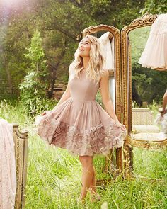 @LaurenConrad is giving us so much outfit inspiration right now! She paired her signature beachy waves with our #LCRunway Collection Ruffle Organza Dress and we just might be copying her look this weekend  {fun fact: it rained on the day that we shot the runway collection and we were shooting outside all day! if you look closely you can see raindrops in this photo } #LCLaurenConrad by lclaurenconrad