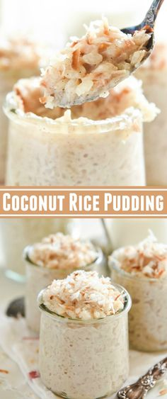 Coconut Rice Pudding: A Disney Cruise Copycat Recipe! Made extra creamy with coconut milk! Coconut Rice Pudding: A Disney Cruise Copycat Recipe! Made extra creamy with coconut milk! Rice Pudding Recipes, Coconut Milk Recipes, Coconut Pudding, Avocado Pudding, Pudding Desserts, Creamy Rice Pudding, Vegan Rice Pudding, Recipes With Rice Milk, Rice Pudding Cooked Rice