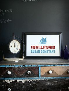 Godspeed - Virginia Letterpress Print on Cotton // $42