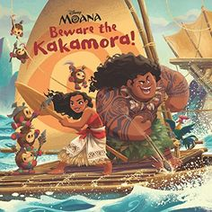 8c5ee0ef (Disney Storybook (eBook)): While on their important voyage, Moana and Maui  encounter the dangerous Kakamora.
