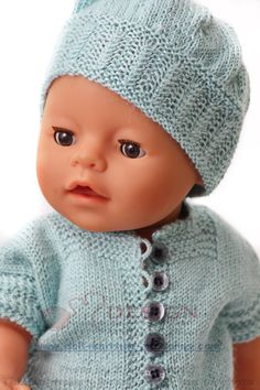 Beautiful doll knitting summer outfit in turquoise color Quilt Baby, Beautiful Children, Beautiful Dolls, Baby Born Clothes, Knitted Hats, Crochet Hats, Vintage Dolls, Baby Knitting, Baby Dolls