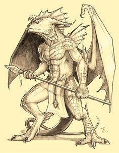 Humanoid Dragon-Char. Redesign by KaiserFlames.deviantart.com on @DeviantArt