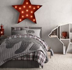 bear-themed bedding and décor. a classic look for your little one's den. #rhbabyandchild