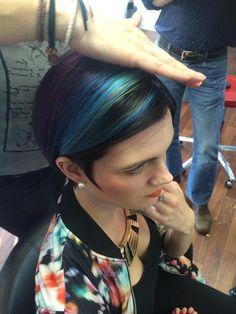 Blue and Green No Limits haircolour from Organic Colour Systems. #healthyhair #haircolour