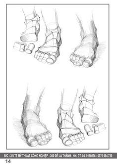 sach hinh hoa nguoi  drawing sketch foot anatomy