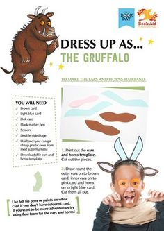 Dress up as The Gruffalo - Book Aid International Character Halloween Costumes, Book Costumes, Book Character Costumes, World Book Day Costumes, Book Week Costume, Children Costumes, Book Characters, Character Ideas, World Book Day Ideas